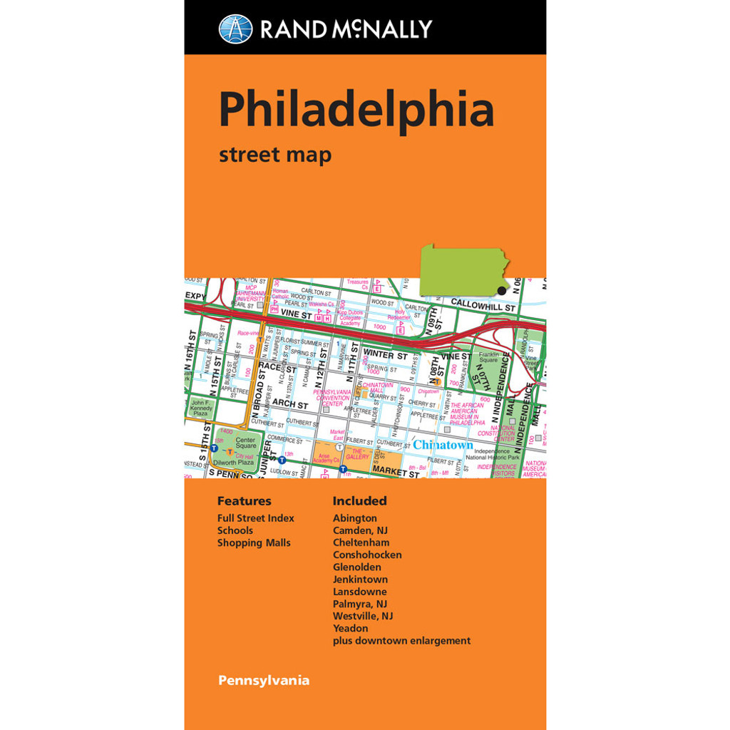 Folded Map: Philadelphia Street Map
