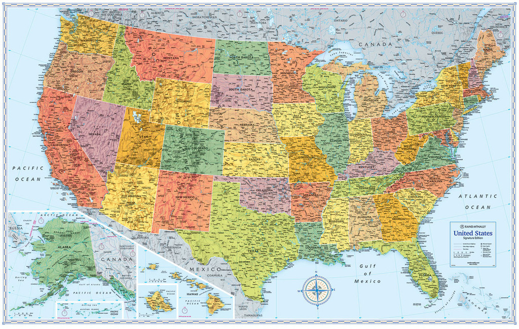 Signature Edition U.S. Wall Maps