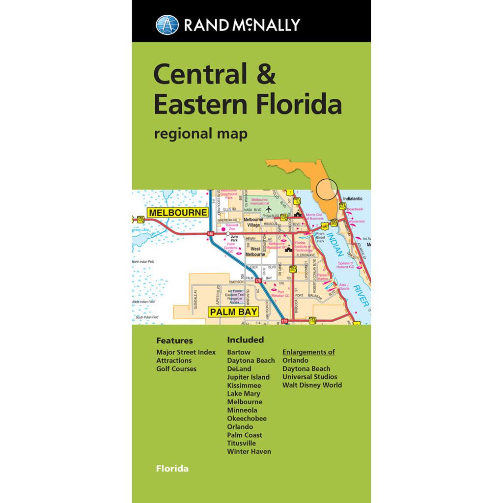 Folded Map: Central & Eastern Florida Regional Map