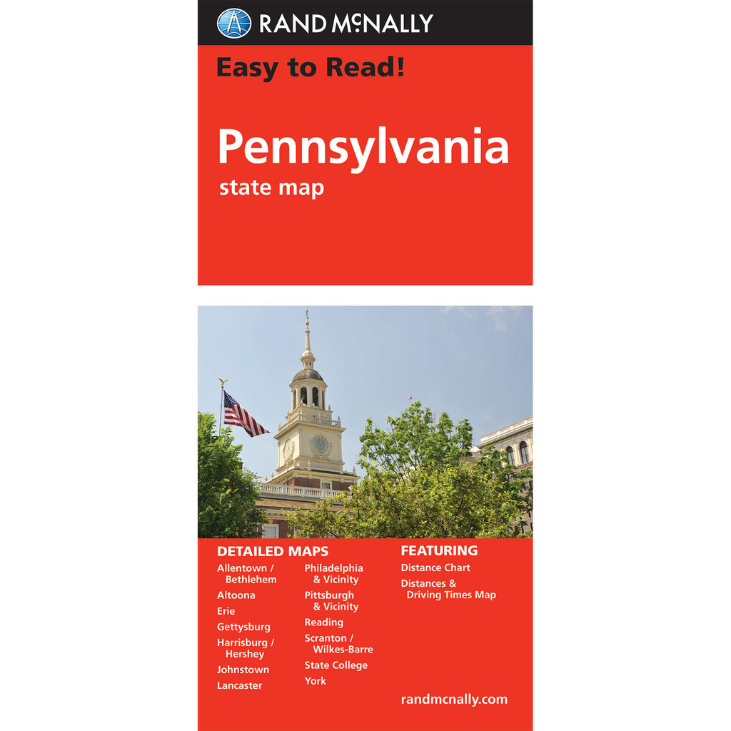 Easy To Read: Pennsylvania State Map