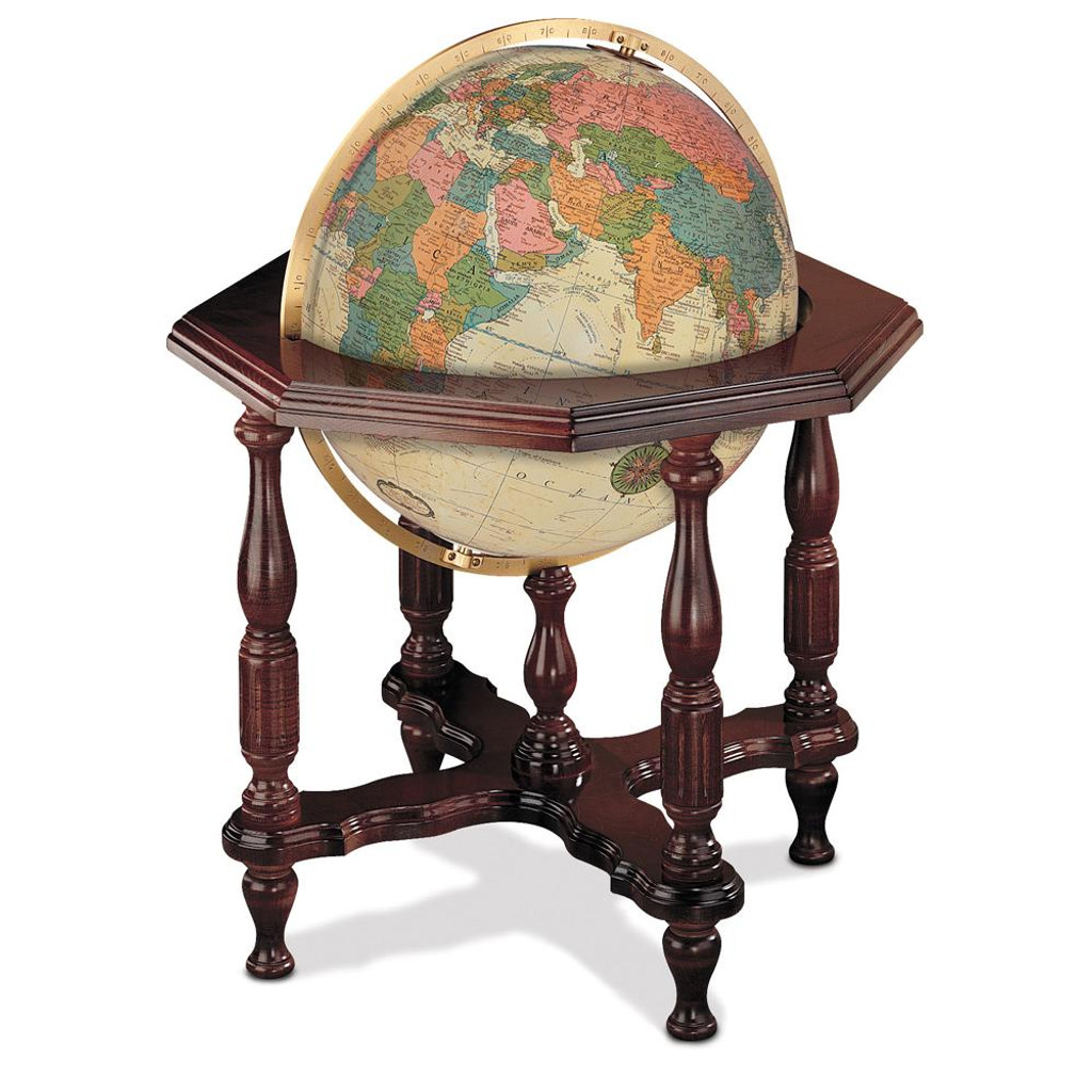 "Statesman Antique Oceans 20"" Illuminated Floor Globe"