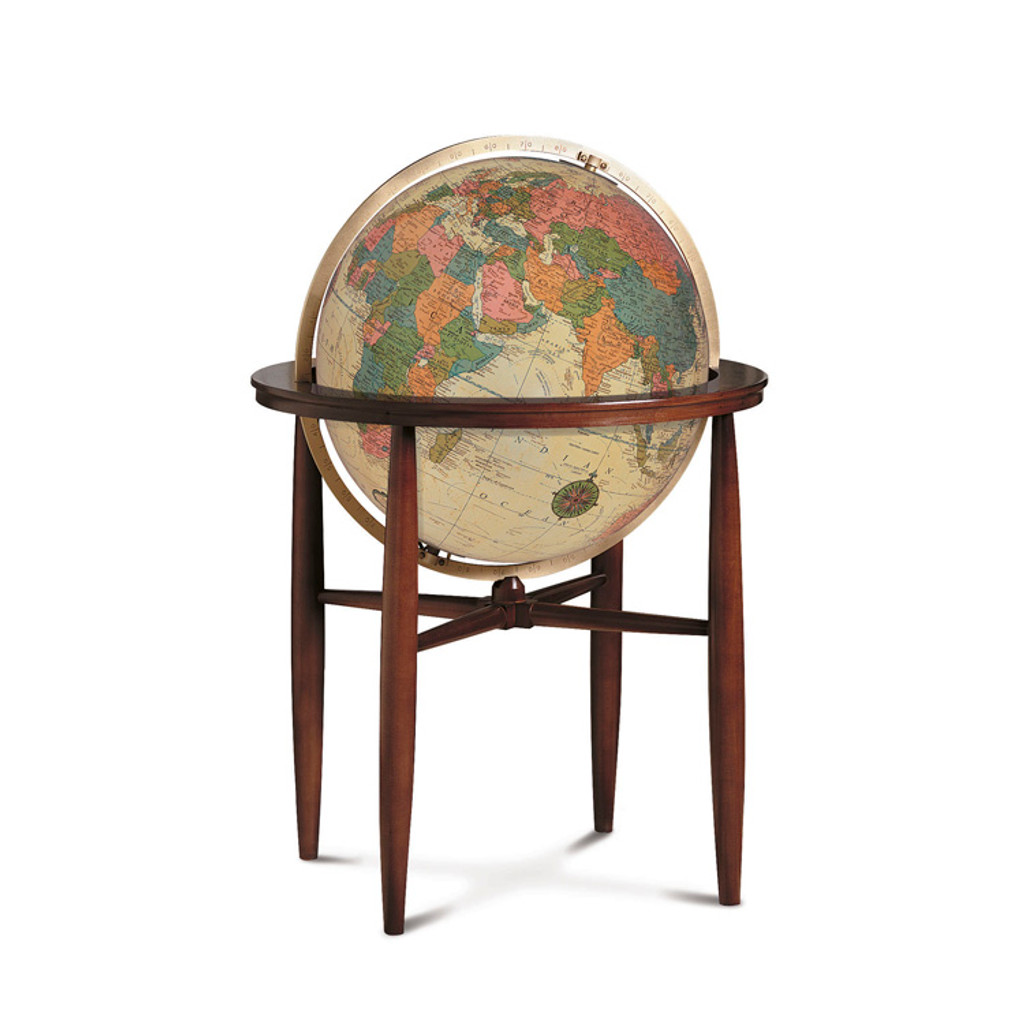"Finley Antique Oceans 20"" Illuminated Floor Globe"