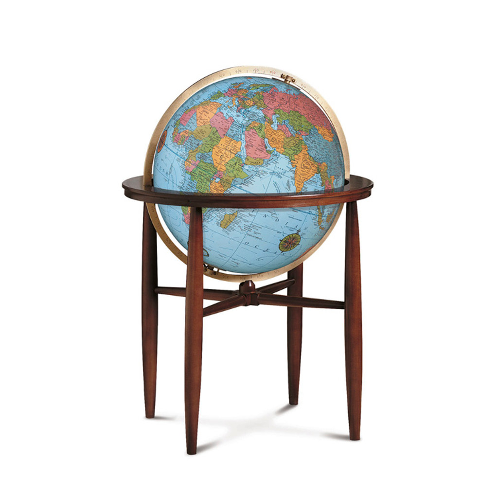 Finley Blue Oceans 20 Illuminated Floor Globe