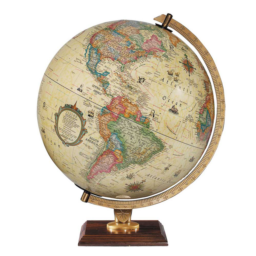 """Carlyle 12"""" Illuminated Desk Globe"""