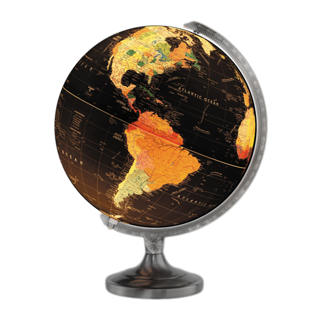 "Orion Illuminated 12"" Desk Globe"