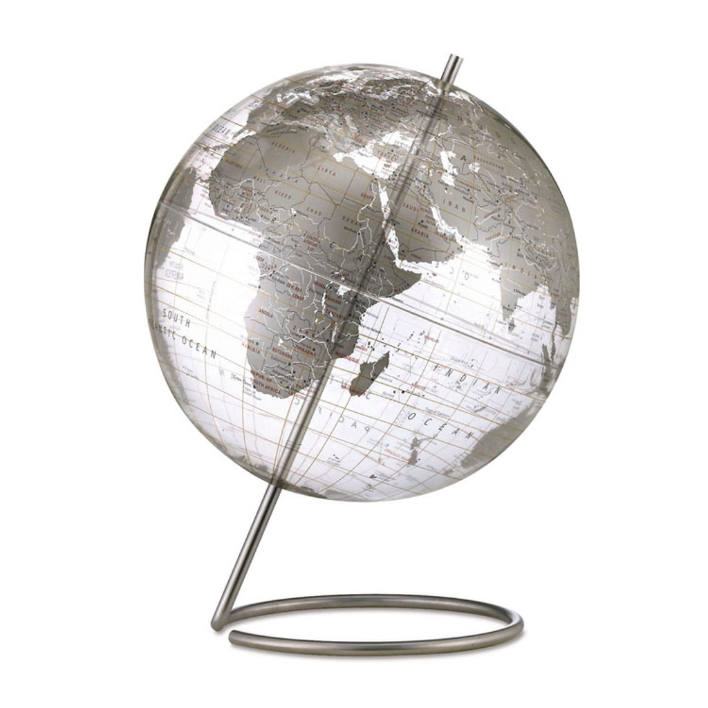 Crystal Marquise 12in. Desk Globe