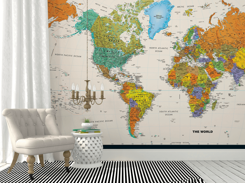Full Wall World Map.Contemporary World Map Wall Mural Rand Mcnally Store