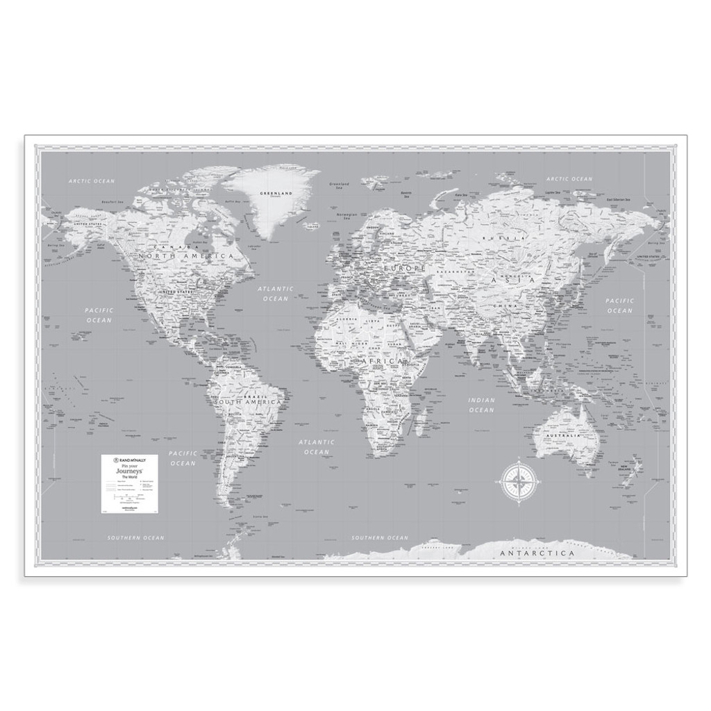 Pin Your Journeys World Wall Map
