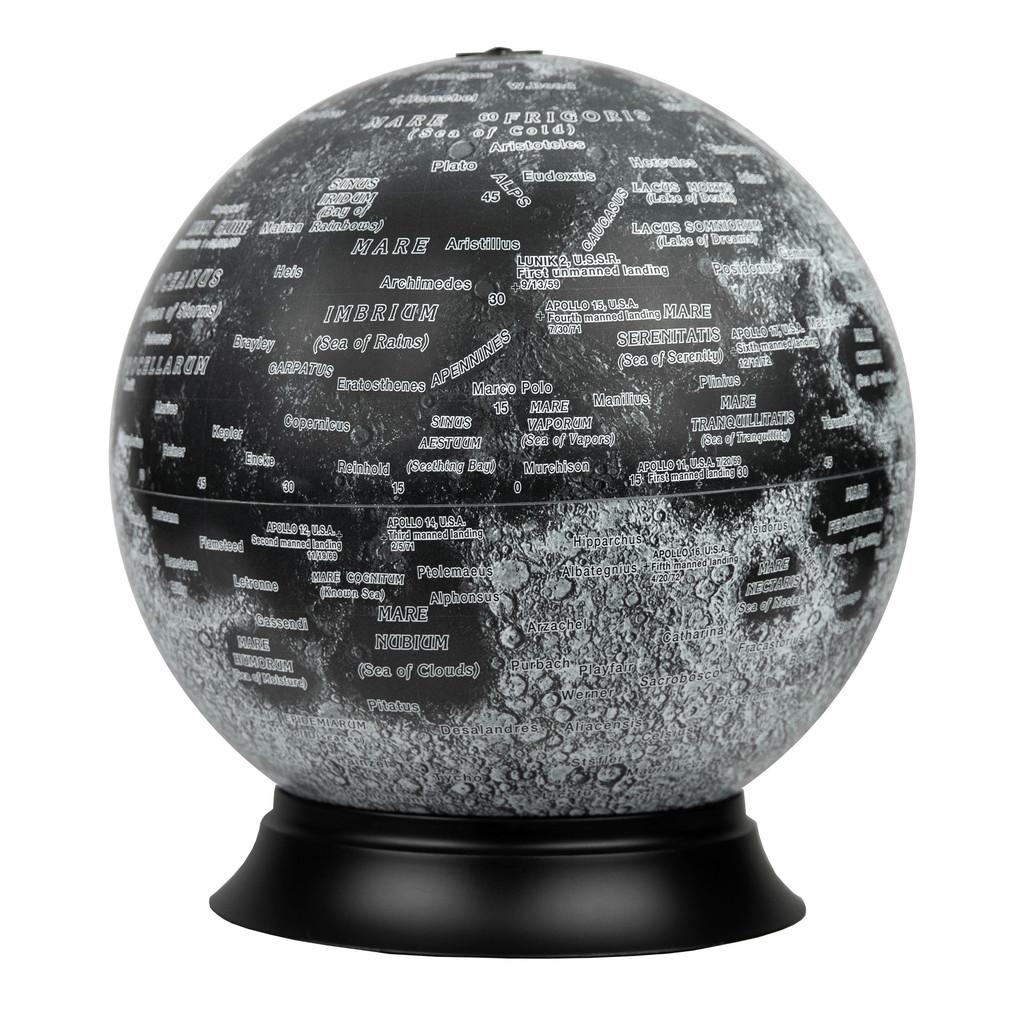 """12"""" Illuminated Moon Desk Globe"""