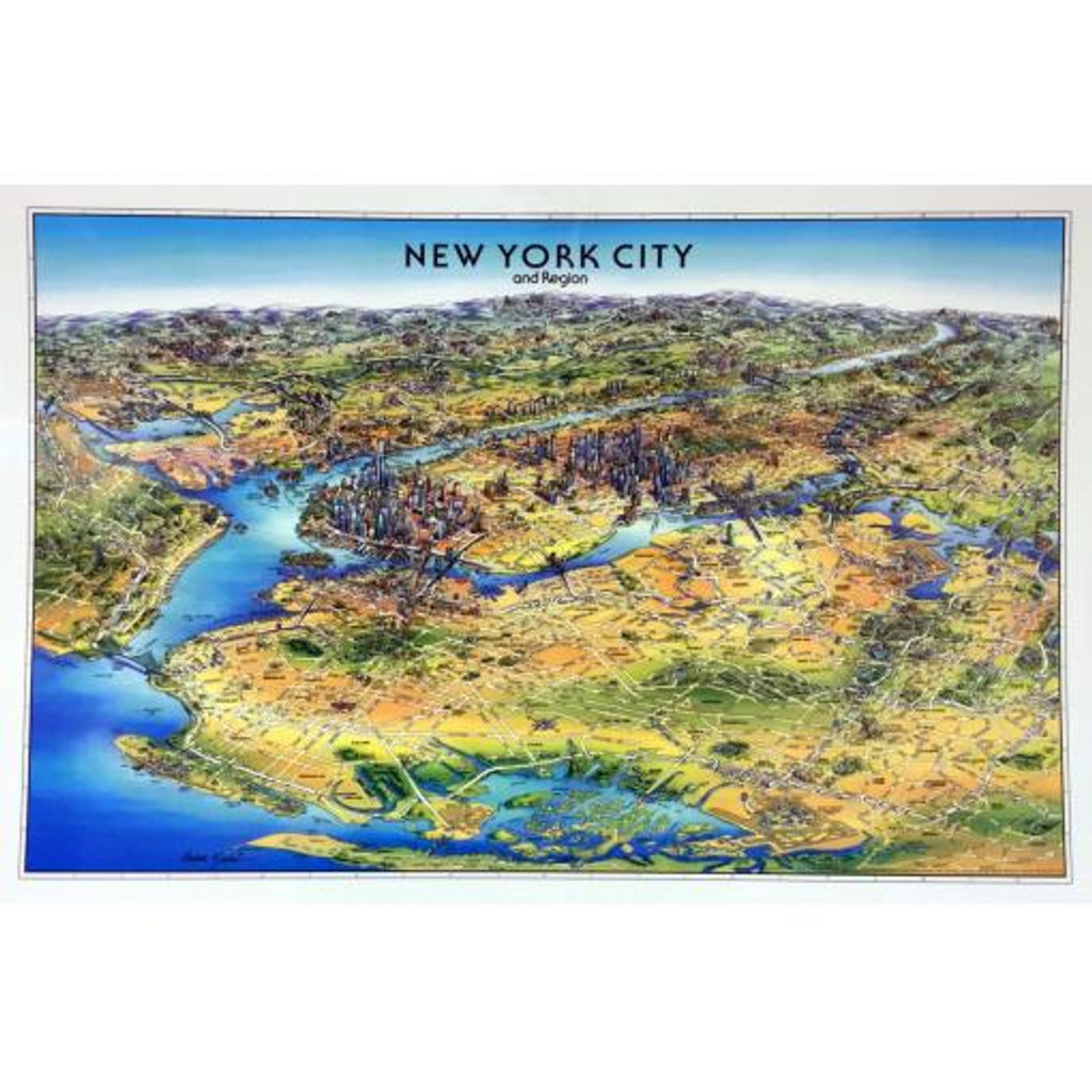 Unique Media New York City Laminated Map