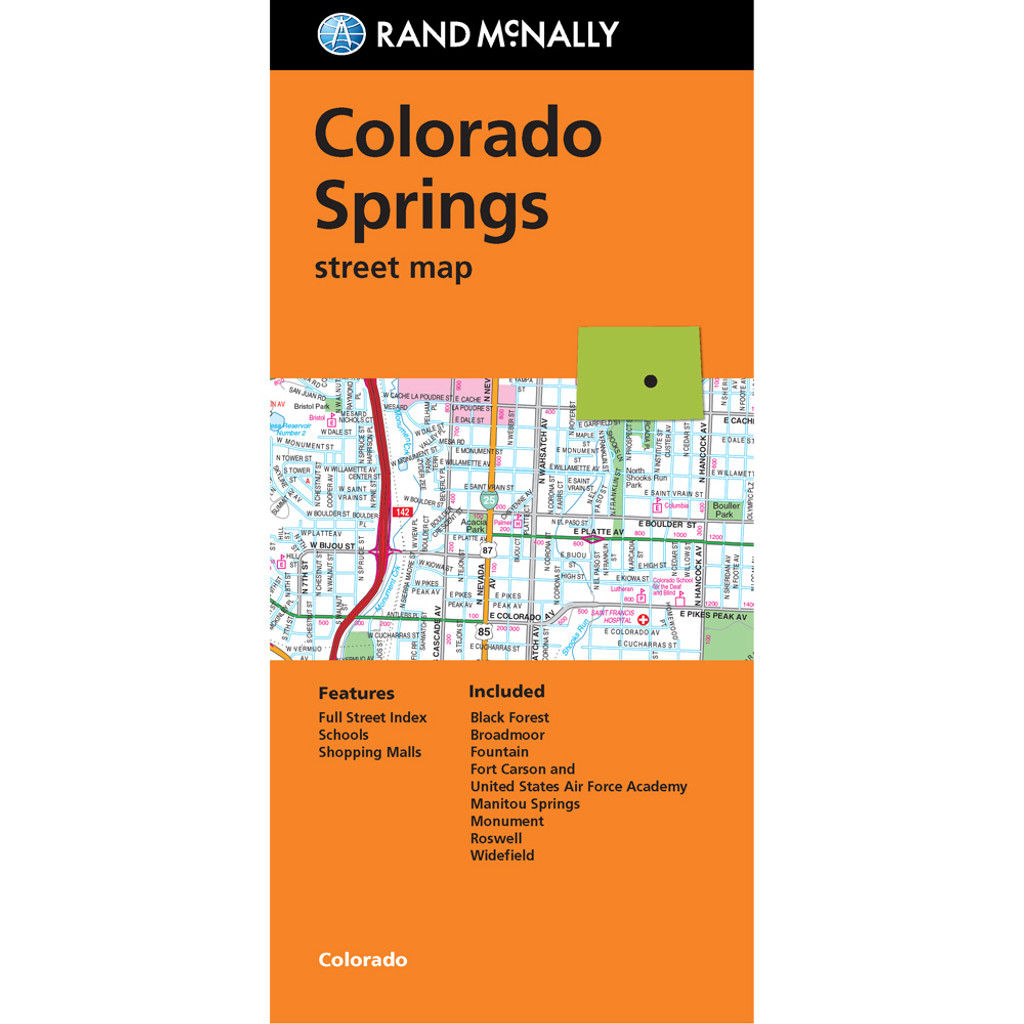 Folded Map: Colorado Springs Street Map
