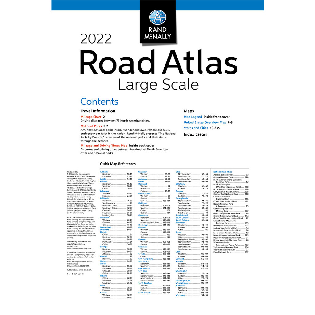 2022 Large Scale Road Atlas