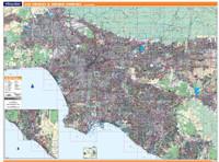 ProSeries Wall Map: Los Angeles & Orange Counties