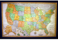 Lightravels Classic Edition Illuminated U.S.A. Wall Map