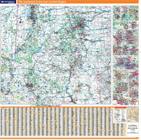 ProSeries Wall Map: Four Corners Region & the Southwest United States