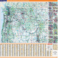 ProSeries Wall Map: The Pacific Northwest & the Northern Rockies
