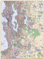 Thomas Bros. Seattle Wall Map