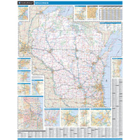 ProSeries Wall Map: Wisconsin State