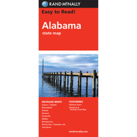 Easy To Read: Alabama State Map