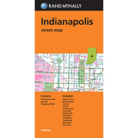 Folded Map: Indianapolis Street Map