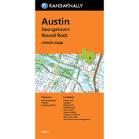 Folded Map: Austin, Georgetown & Round Rock Street Map