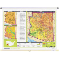 Arizona Physical-Political State Wall Map