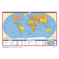 Political U.S./World Desk Map