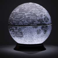 "12"" Illuminated Moon Desk Globe"