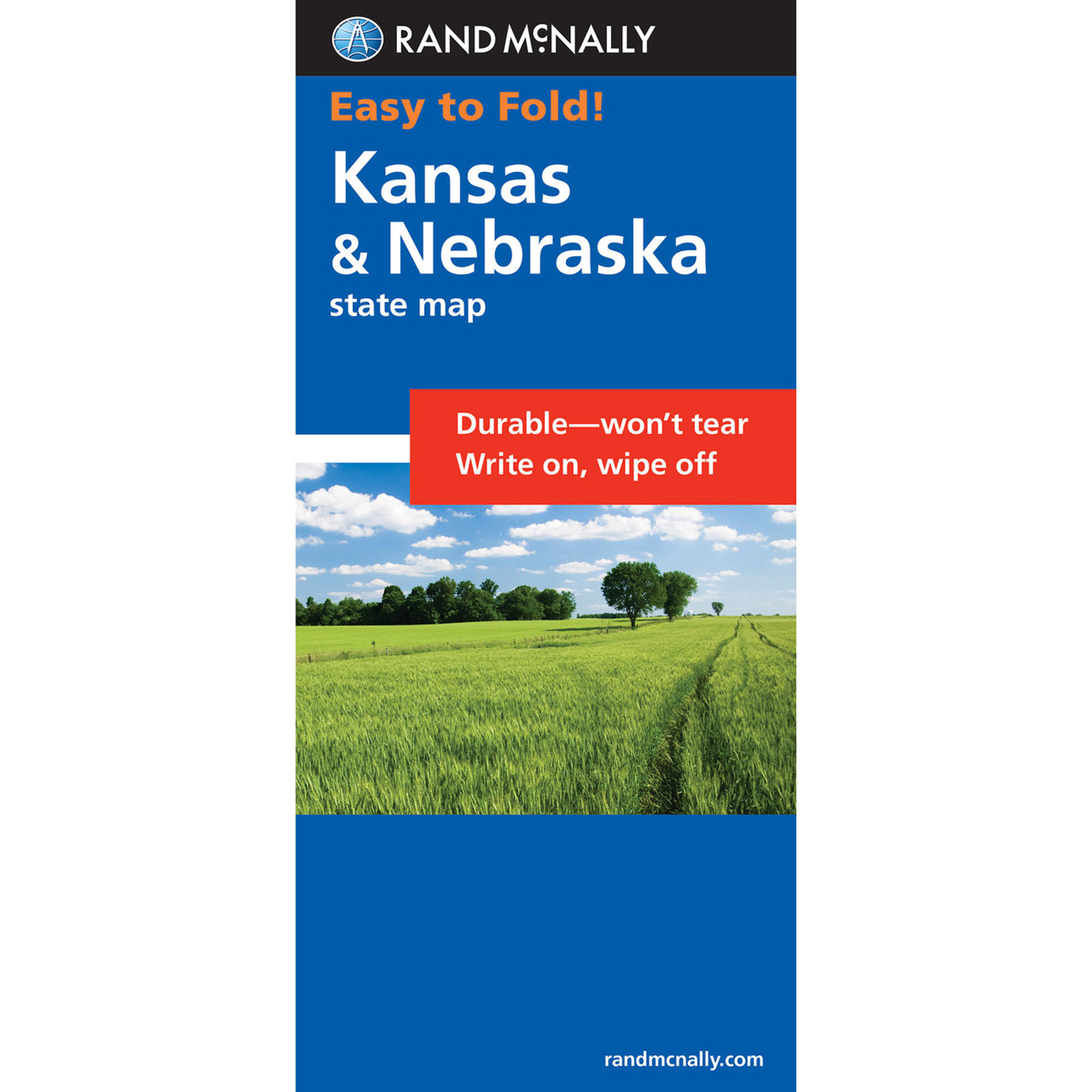 Easy To Fold: Kansas, Neska Kansas State Map By Rand Mcnally on map of all georgia cities, map of colorado and nebraska borders, map of indiana area, map tilden nebraska, map of montana, map of eastern wyoming,