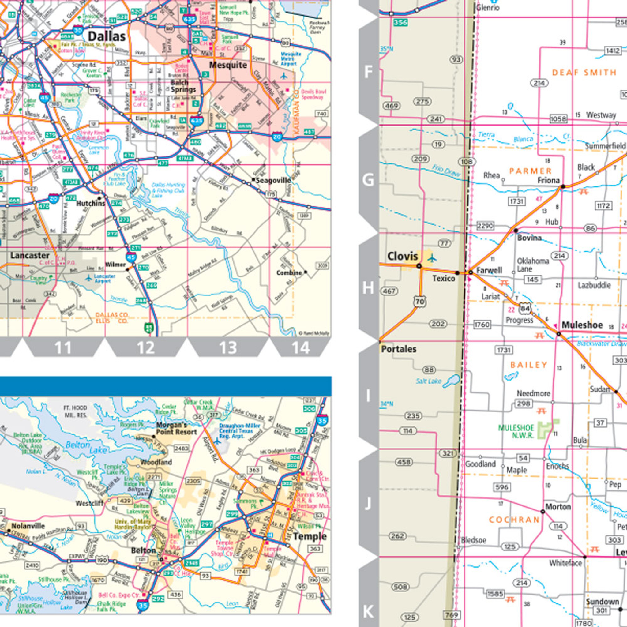 Picture of: Rand Mcnally Texas State Wall Map