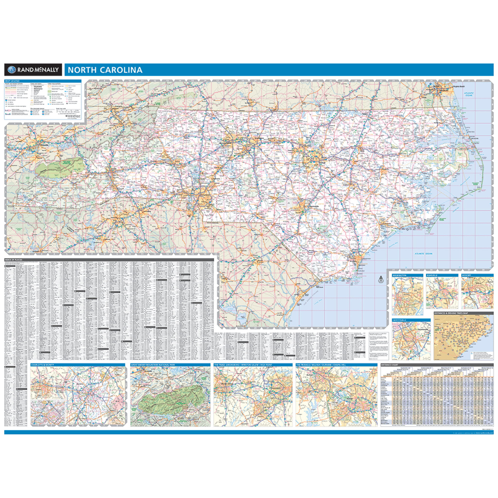 ProSeries Wall Map: North Carolina State