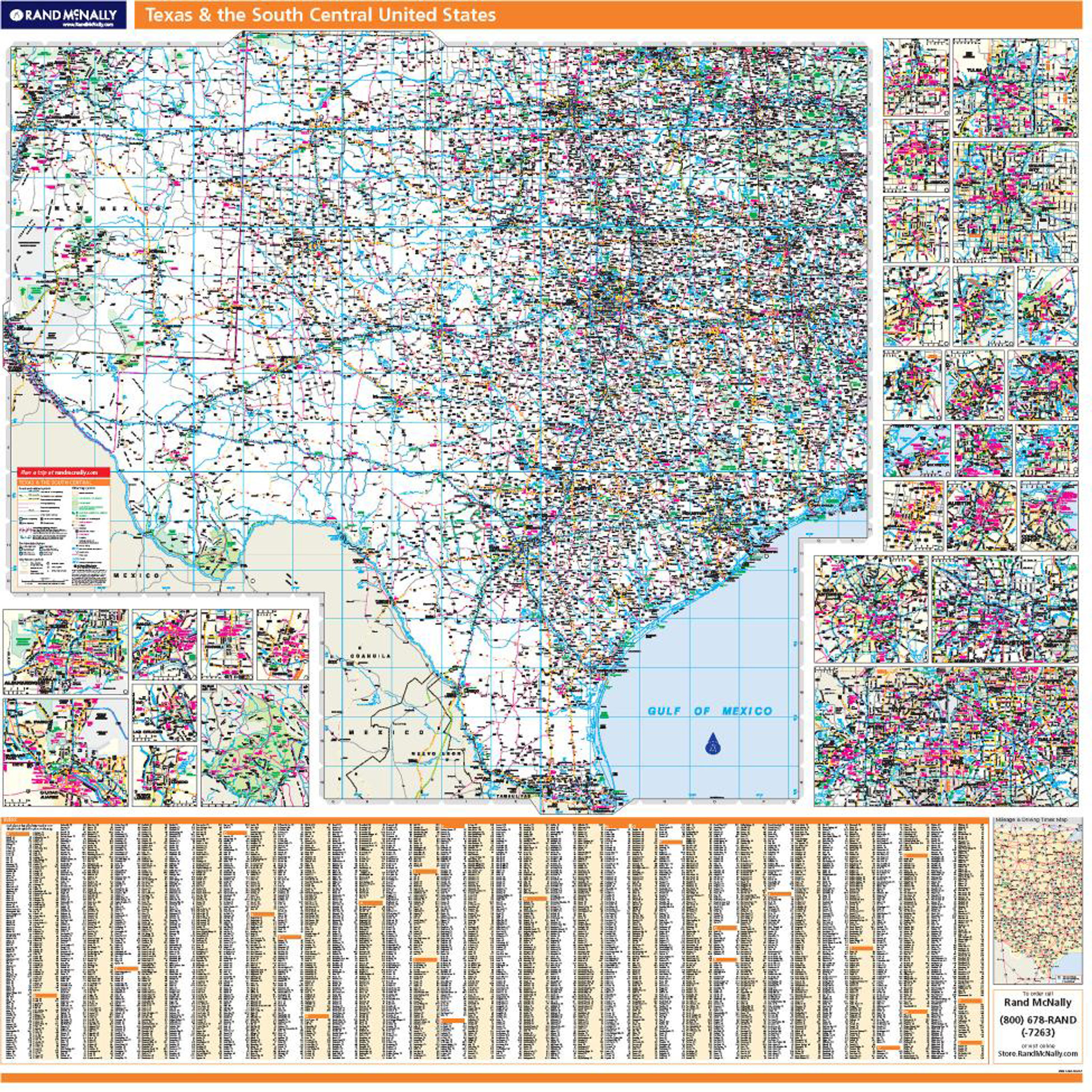 Free Map Of Texas.Proseries Wall Map Texas The South Central United States