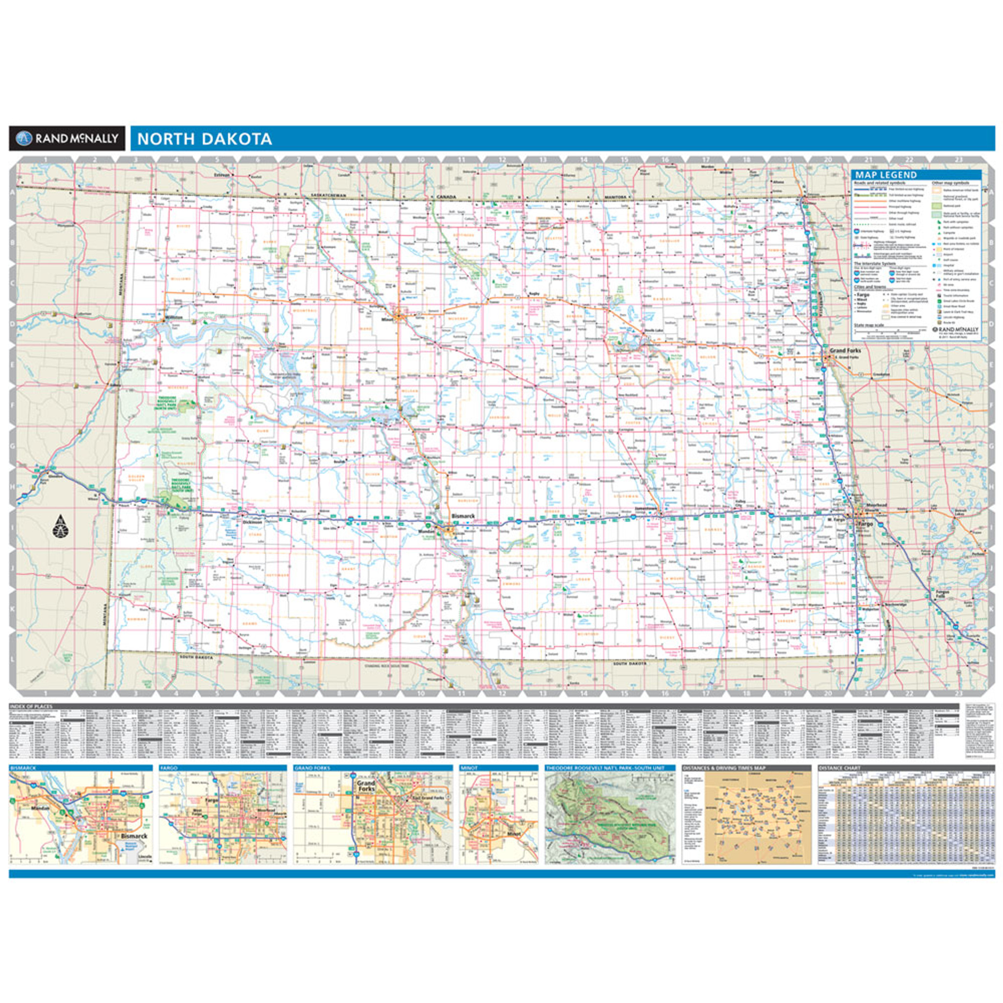 ProSeries Wall Map: North Dakota State