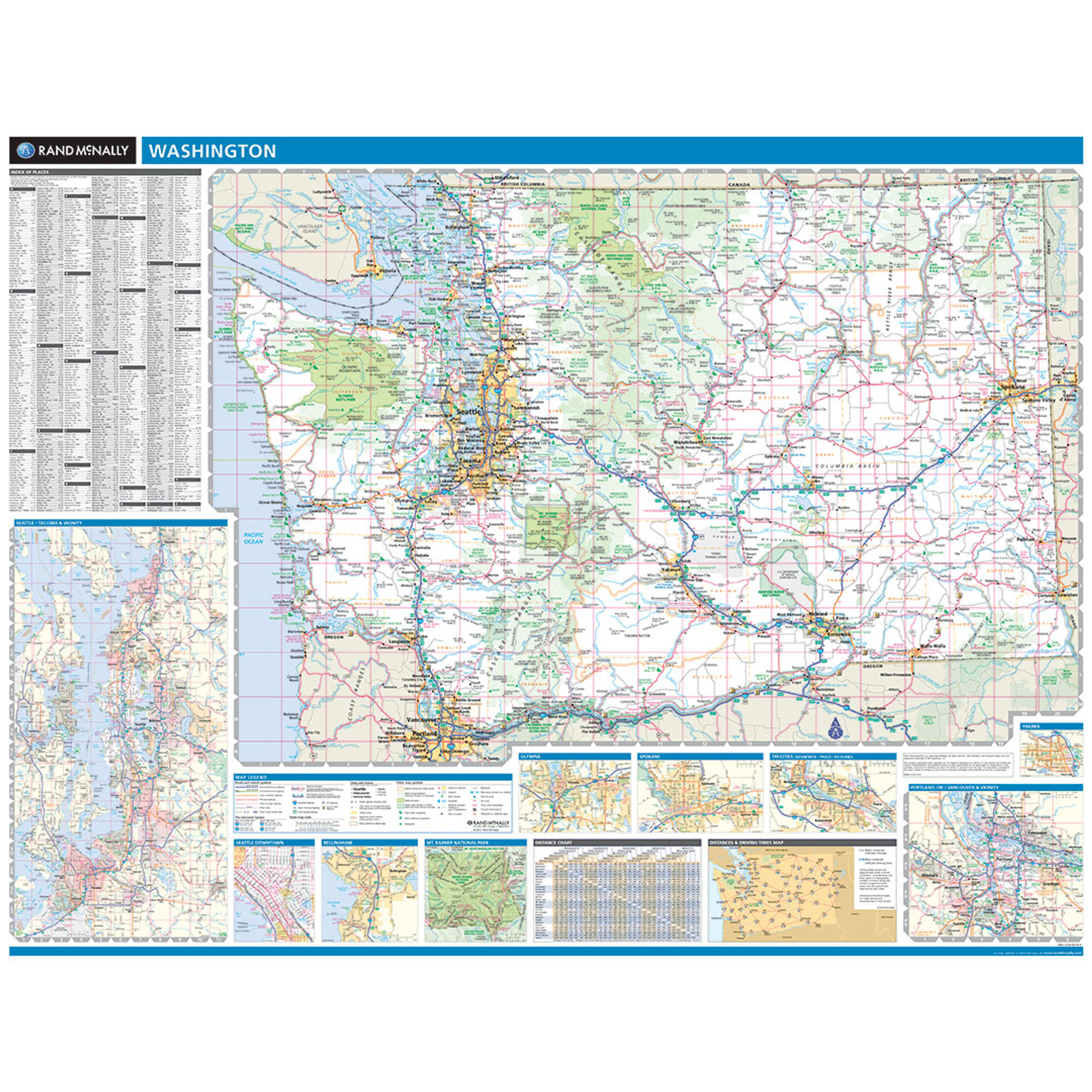 ProSeries Wall Map: Washington State on map of all georgia cities, map of colorado and nebraska borders, map of indiana area, map tilden nebraska, map of montana, map of eastern wyoming,