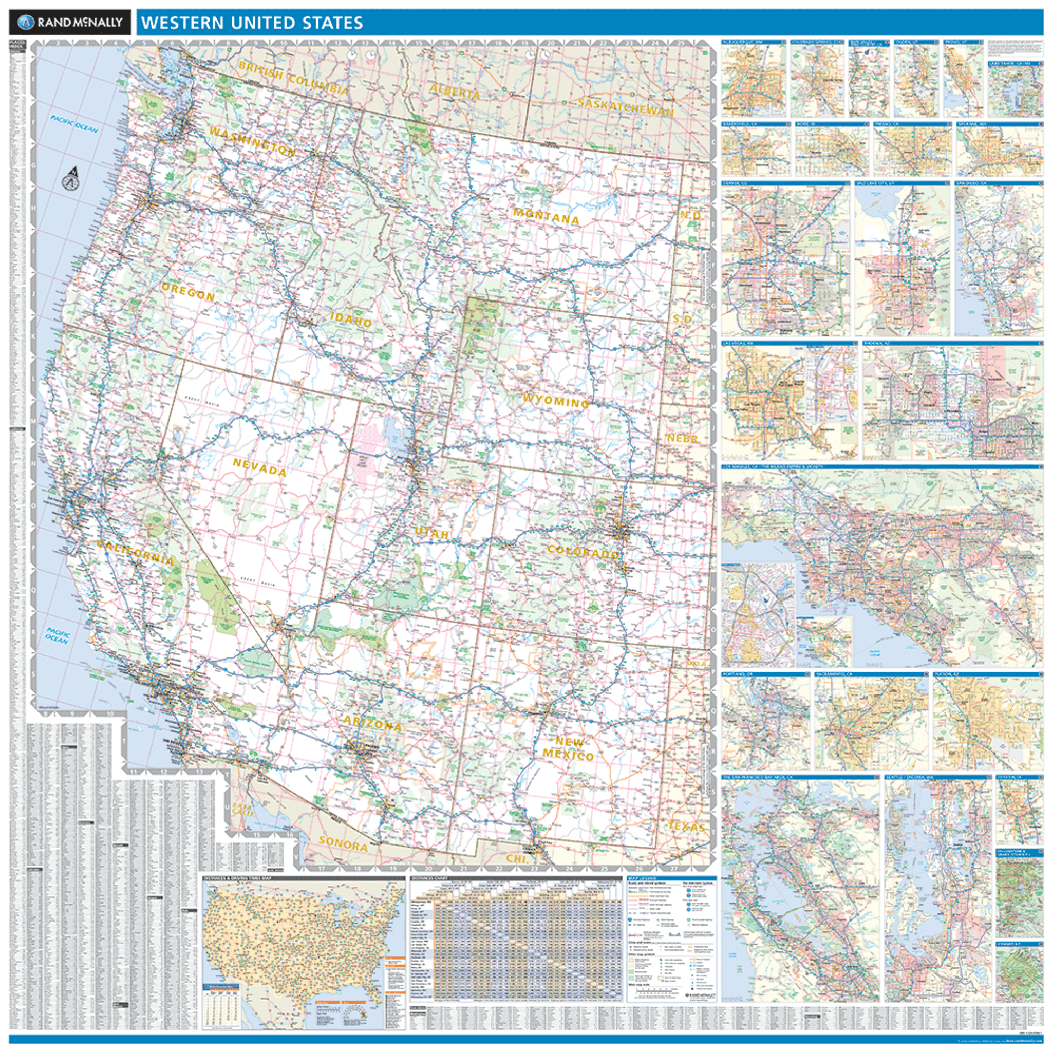 ProSeries Wall Map: Western United States