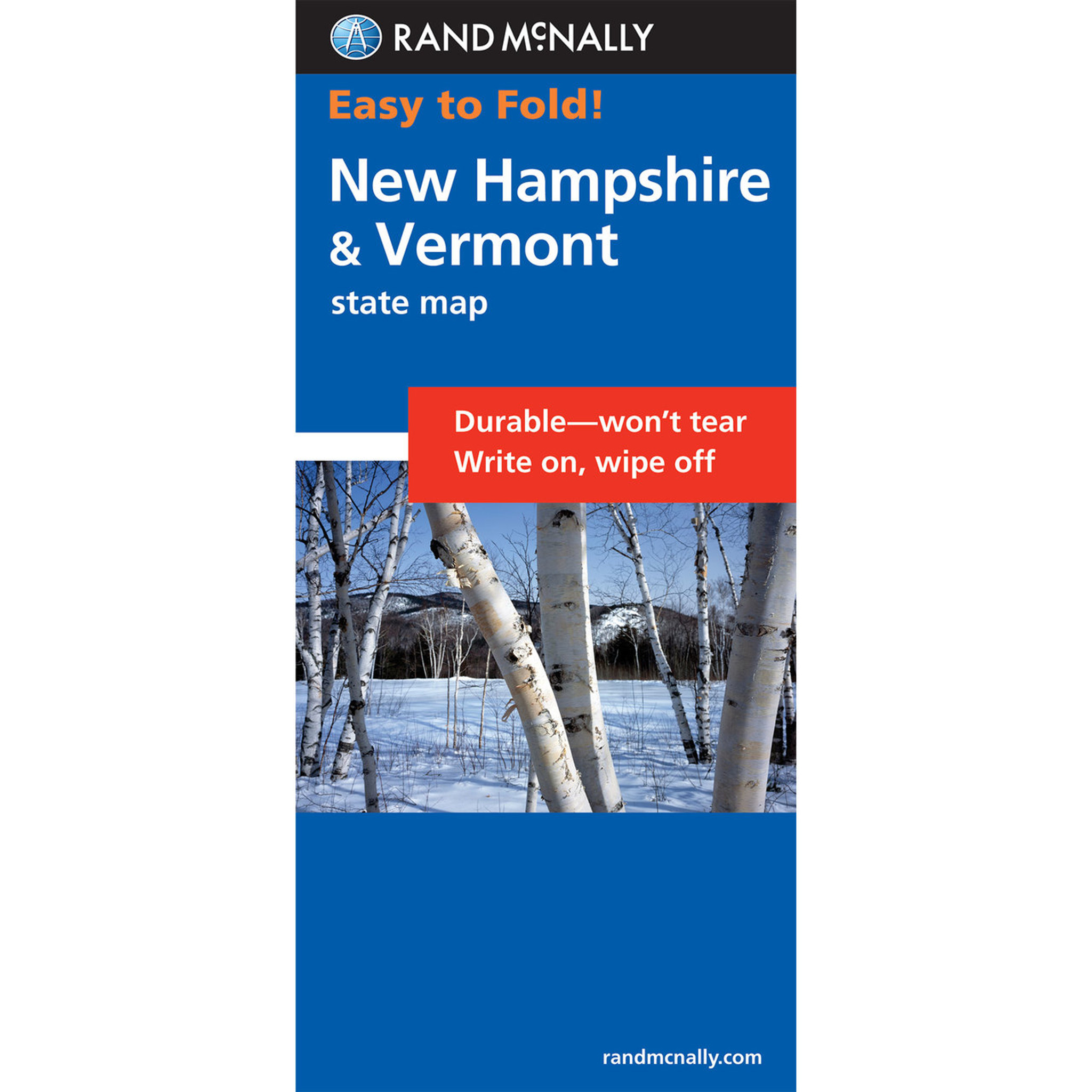Rand Mcnally Easytofold Map New Hampshire Vermont