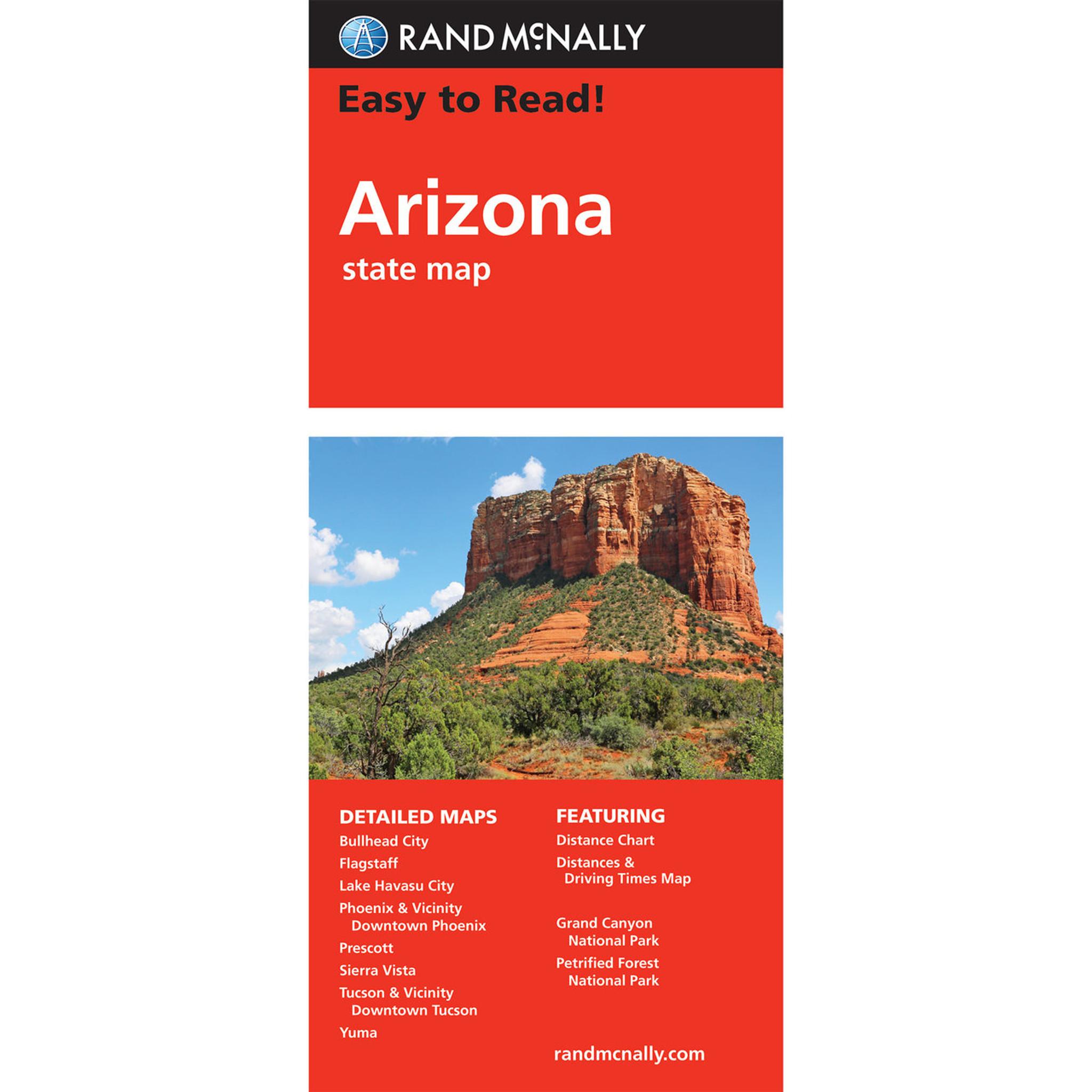 Rand Mcnally Easy To Read State Folded Map Arizona