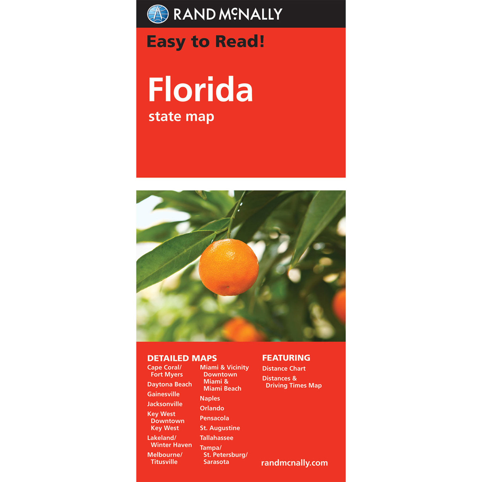 Florida State Map.Rand Mcnally Easy To Read State Folded Map Florida