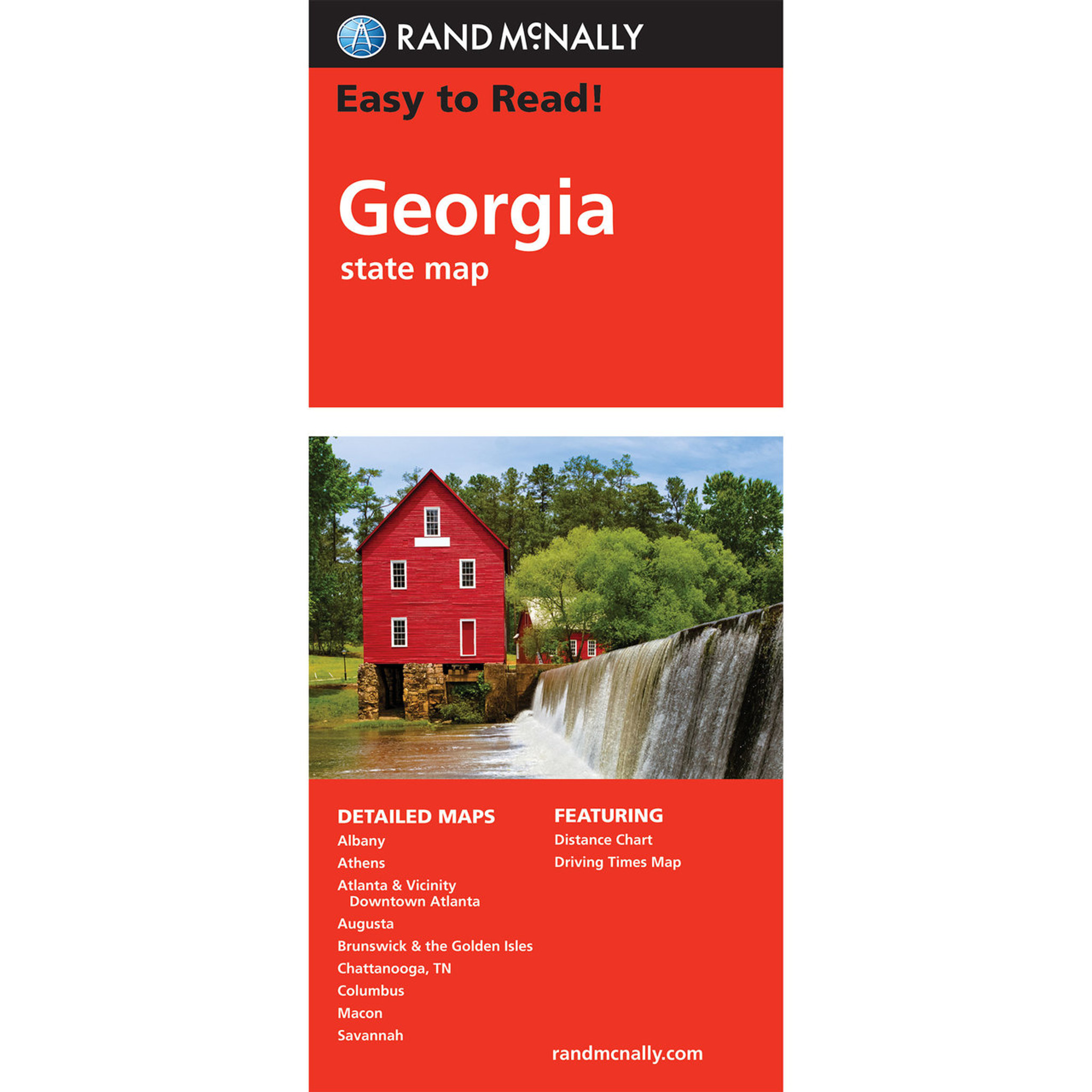 Rand Mcnally Easy To Read State Folded Map Georgia