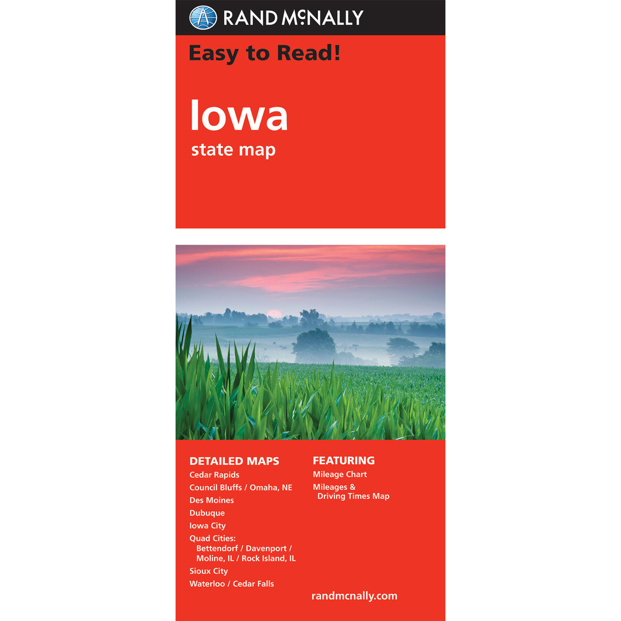 Rand Mcnally Easy To Read State Folded Map Iowa