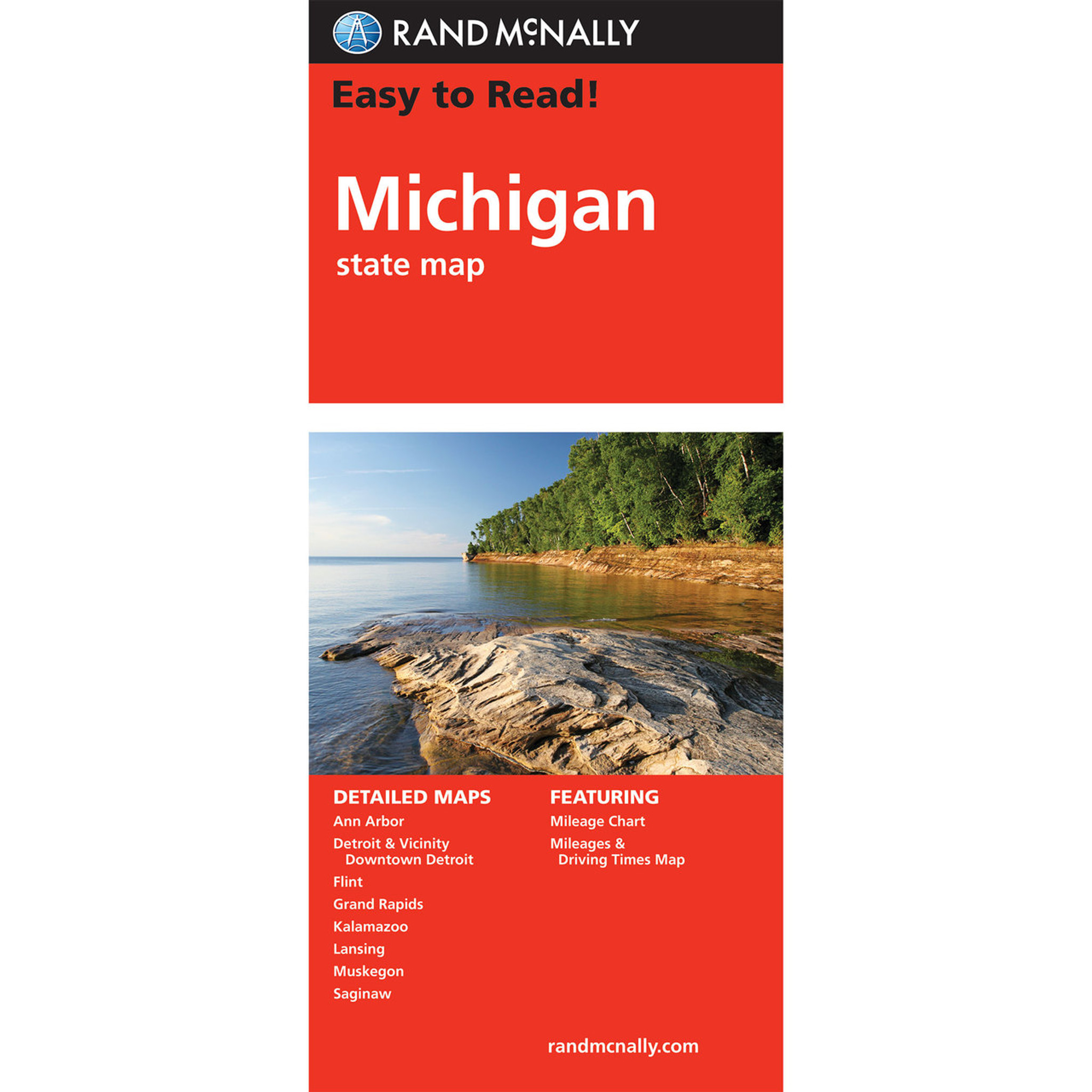 Rand Mcnally Easy To Read State Folded Map Michigan