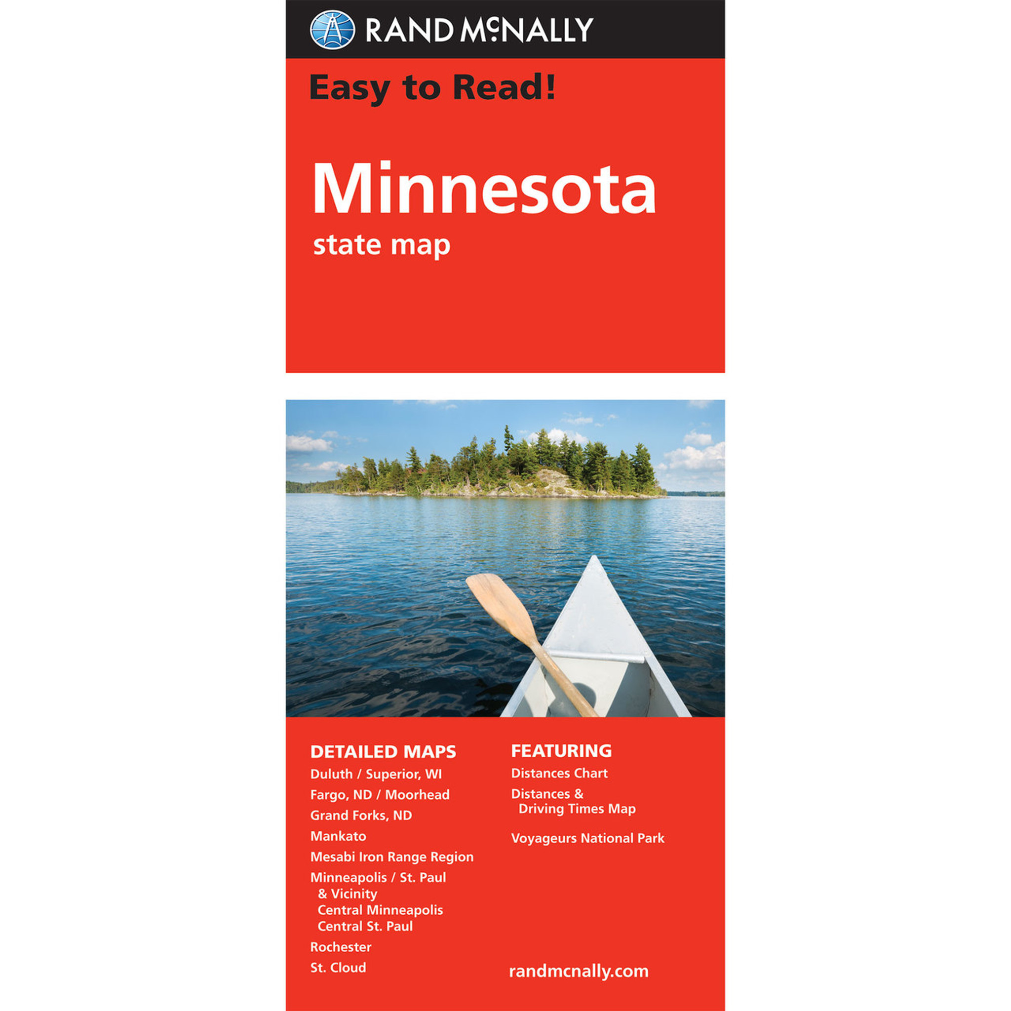 Rand Mcnally Easy To Read State Folded Map Minnesota