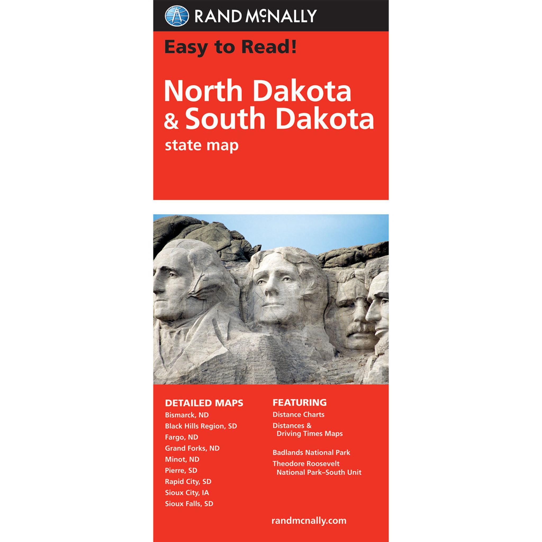 Rand McNally Folded Map: North Dakota, South Dakota