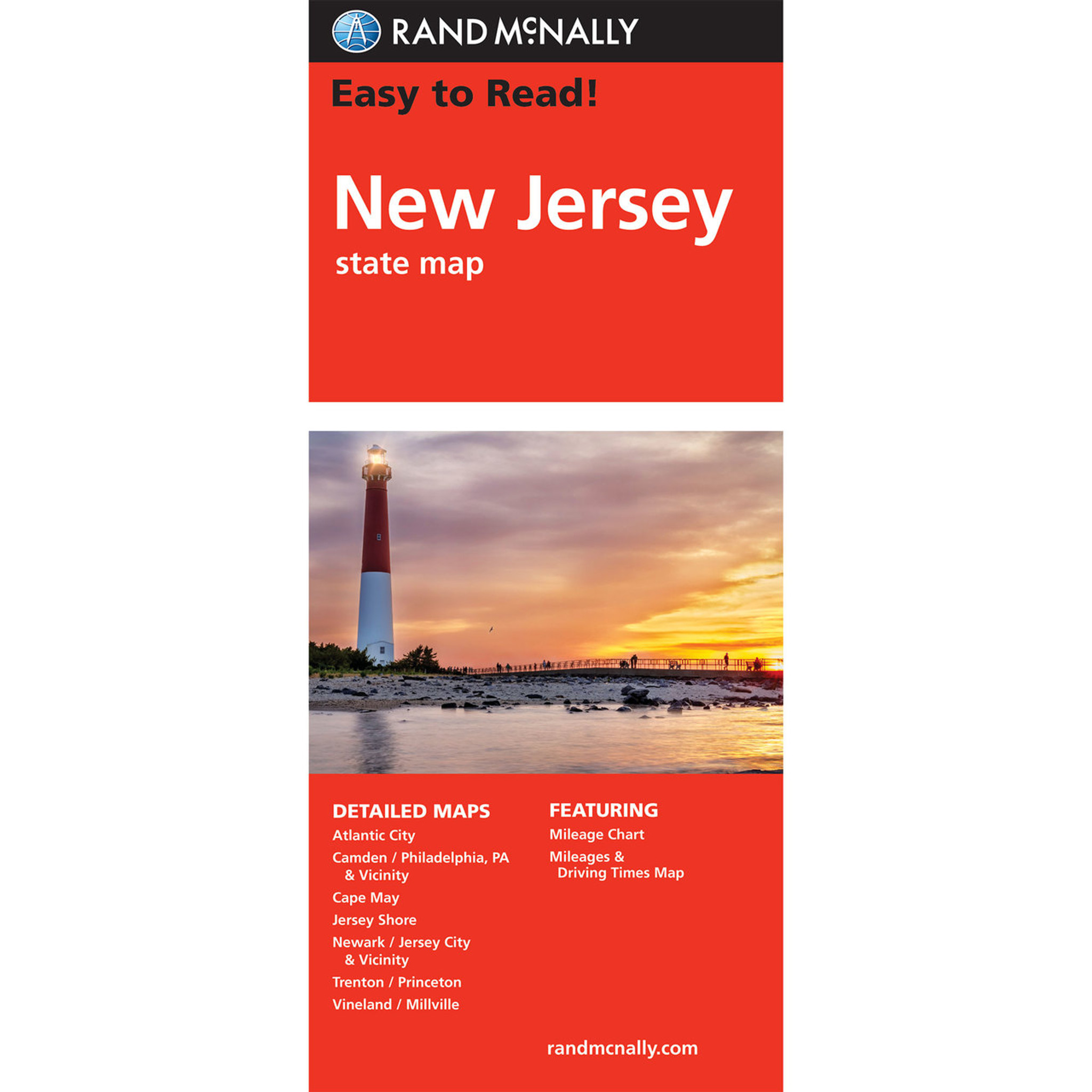 Rand McNally Easy To Read State Folded Map: New Jersey