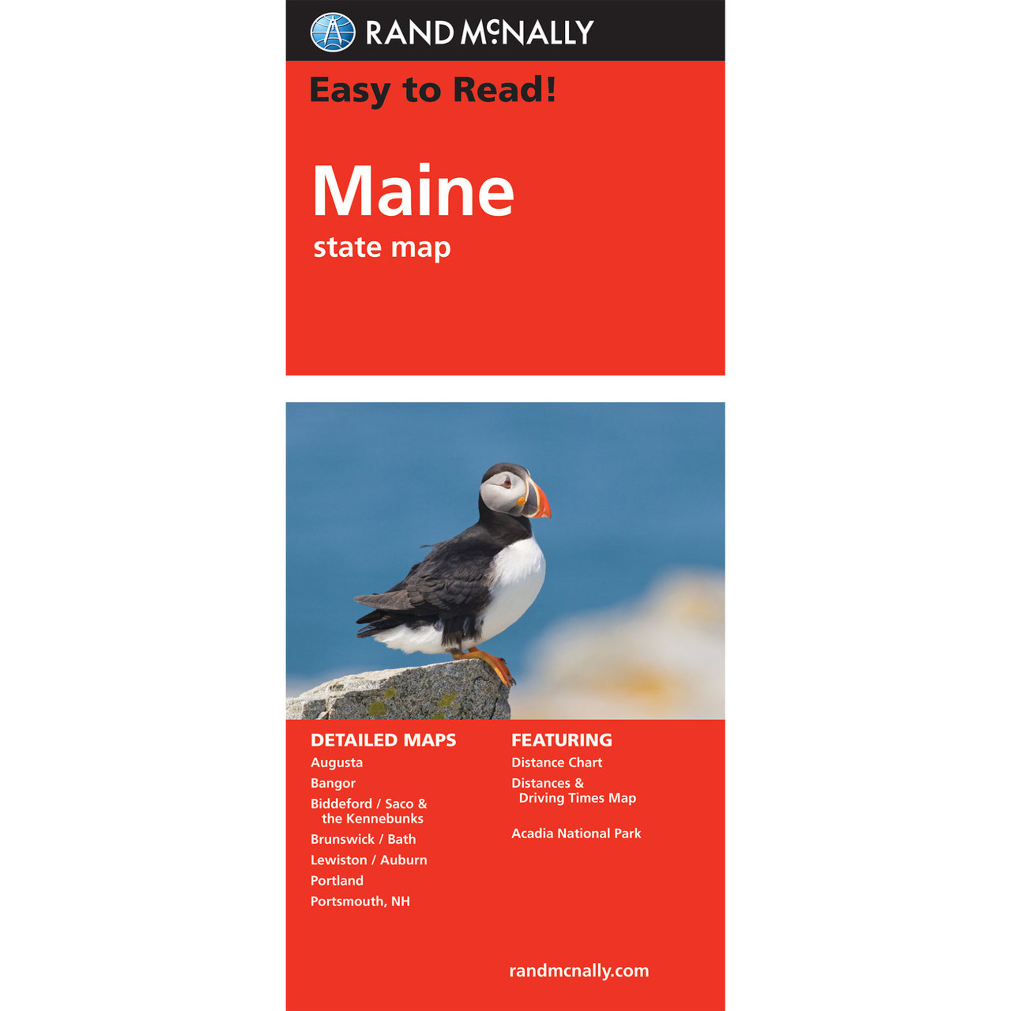 Rand McNally Easy To Read State Folded Map: Maine