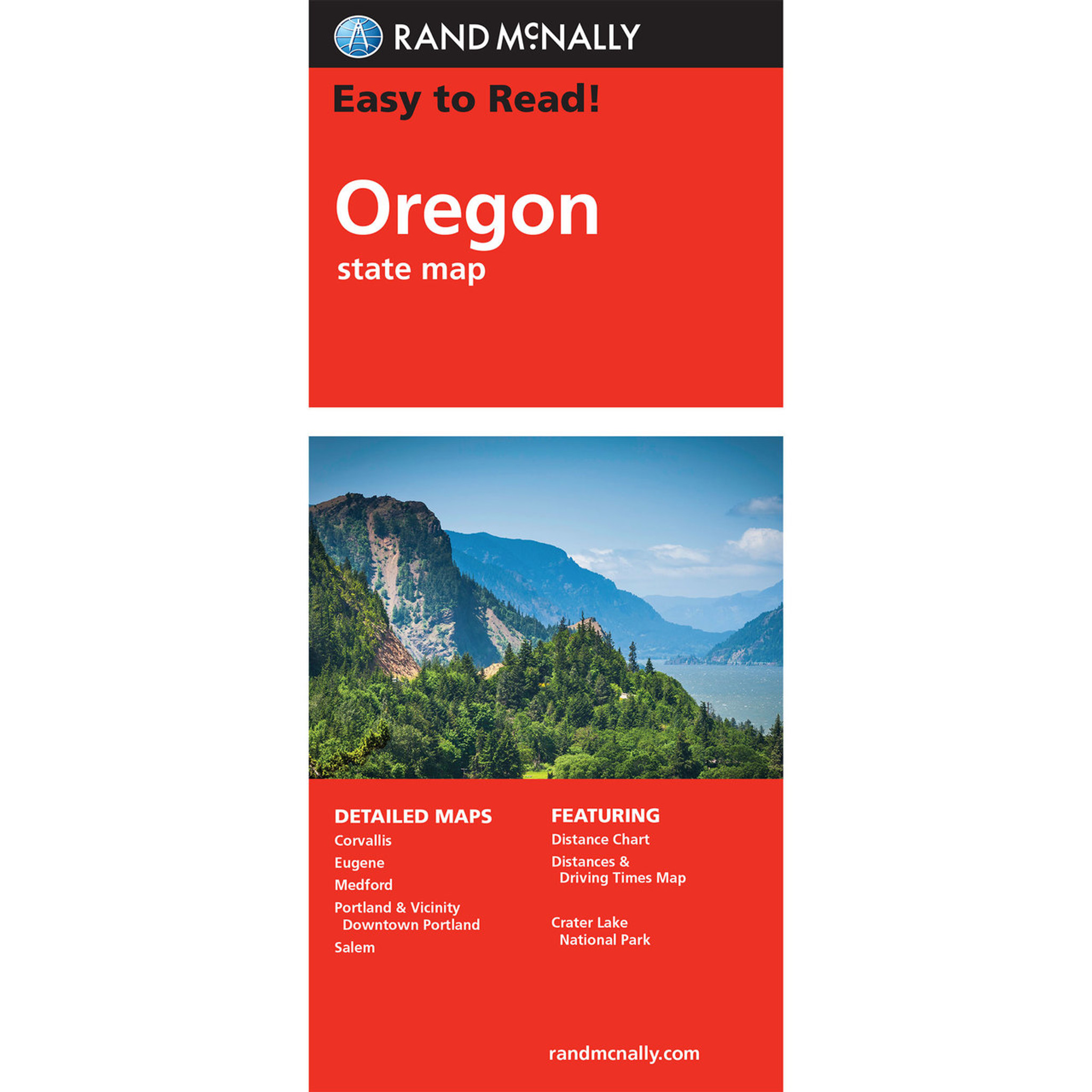 Oregon Map Image.Rand Mcnally Easy To Read State Folded Map Oregon