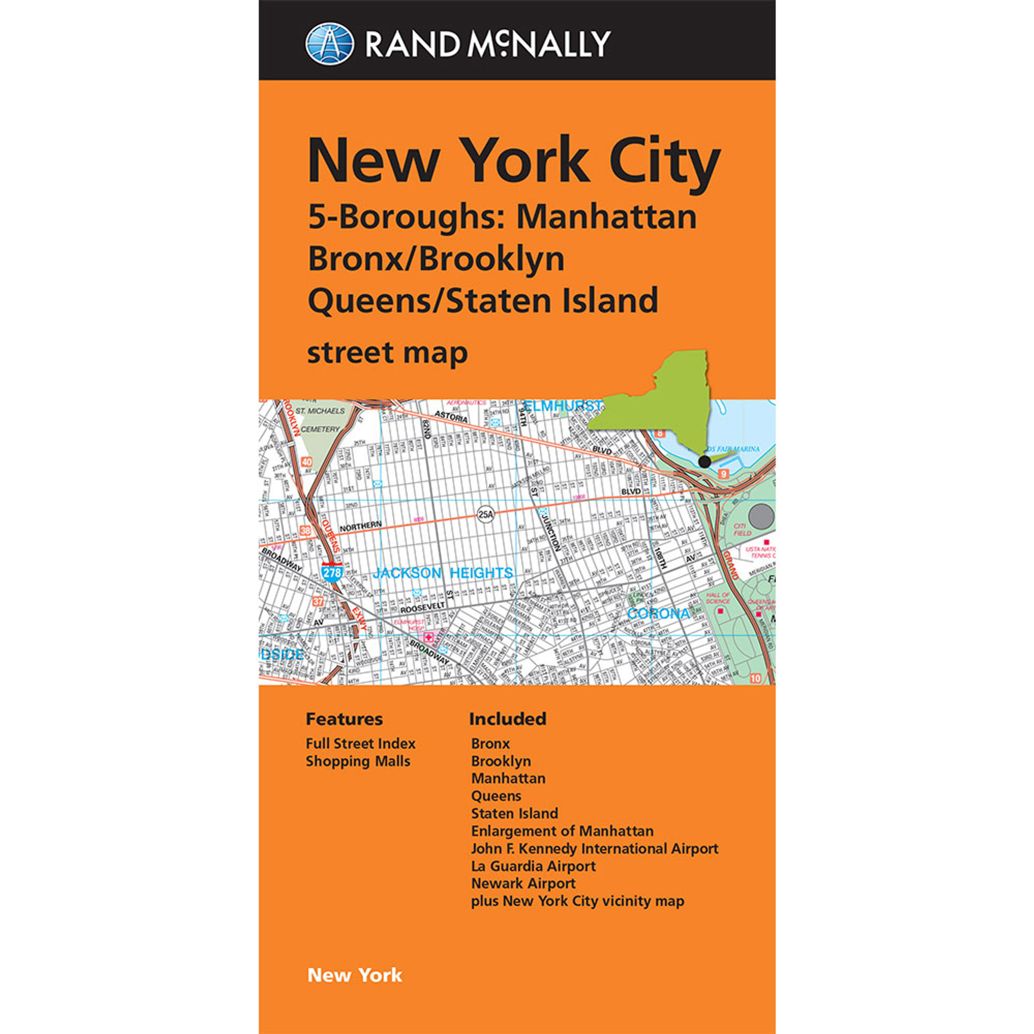 Folded Map: New York City | 5 Boroughs