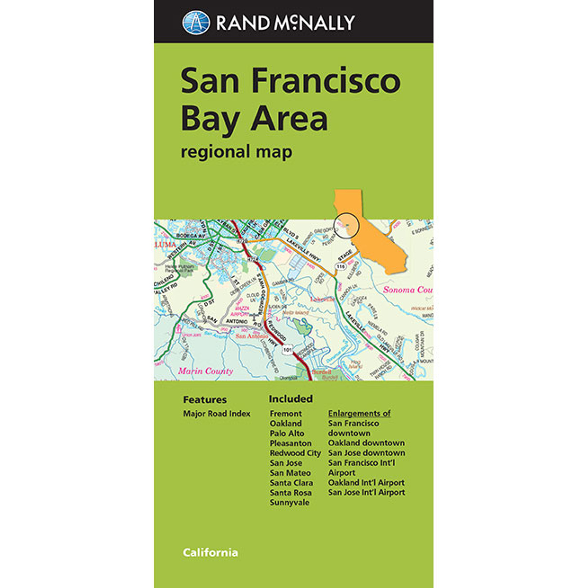 Folded Maps San Francisco It shows all the main tourist areas. folded map san francisco bay area folded regional map