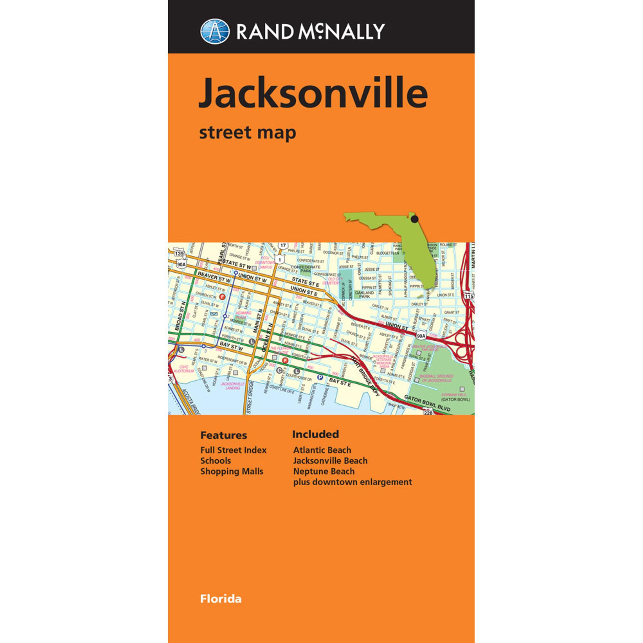 Florida Map Jacksonville.Folded Map Jacksonville Street Map