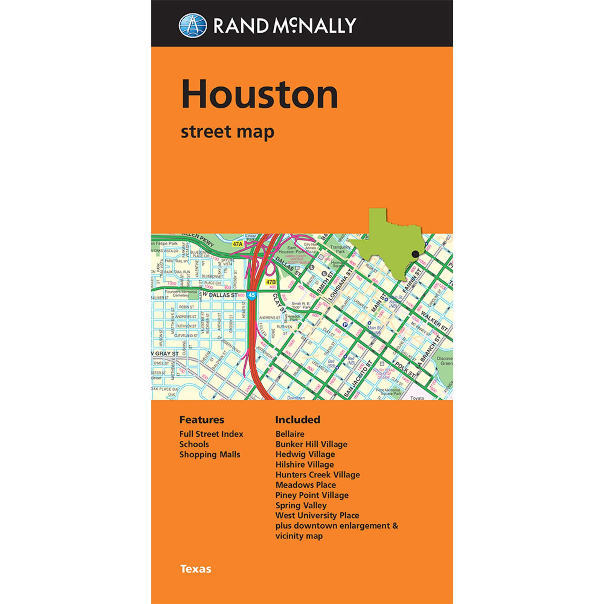 Folded Map Houston Street Map Rand Mcnally Store